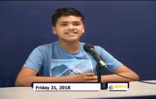 Miner Morning TV, 8-31-18