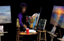 Painting Van Gogh with Gloria