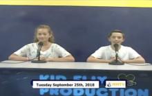 Miner Morning TV, 9-25-18