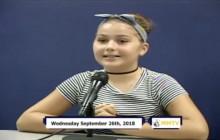 Miner Morning TV, 9-26-18