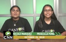 Canyon News Network, 10-25-18 | College News