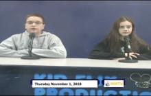 Miner Morning TV, 11-1-18