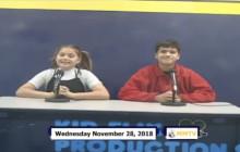 Miner Morning TV, 11-28-18