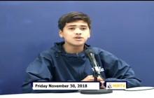 Miner Morning TV, 11-30-18