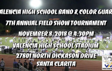 Valencia High Band & Color Guard To Host 7th Annual Field Show Tournament