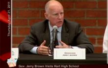 Gov. Brown Visits Hart High School