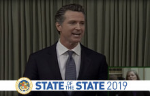 Gov Newsom Delivers the 2019 State of the State Address