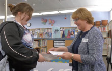 SCV Education Foundation Donates Books to Placerita Junior High Students