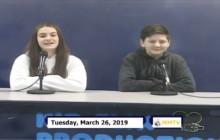 Miner Morning TV, 3-26-19
