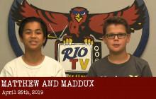 Rio TV, 4-26-19