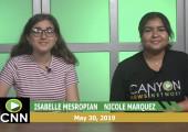 Canyon News Network, 5-30-19 | Miciah Edwards Student Spotlight