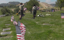 Flags Placed at Veterans' Gravesites in Honor of Memorial Day