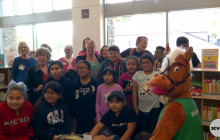 Old Town Newhall Library, City Staff Celebrate New Furniture in Library's Children's Area