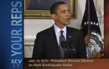 1/15/2010 Pres. Obama Updates Haitian Earthquake Relief Efforts
