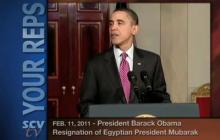 2/11/2011 President Obama on Mubarak's Resignation