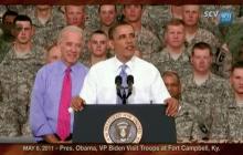 5/6/2011 President Obama, VP Biden Visit Troops at Fort Campbell, Ky.