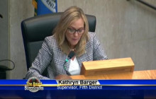(VIDEO) Supervisor Barger Adjourns Board Meeting in Memory of Carl Boyer III