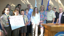 Supervisor Kathryn Barger Hosts Press Conference About The Importance of Recycling