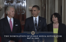 5/26/2009 President Obama Nomination of Judge Sonia Sotomayor to the Supreme Court