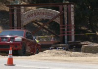 (VIDEO) Live Oak Manor Arch Relocated to Sierra Highway Frontage