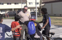 Sheriff Alex Villanueva attends National Night Out with East LA community