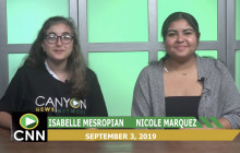 Canyon News Network 9-3-19 | Weather and Sports Report