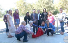 Sidewalk Poetry Unveiling Ceremony