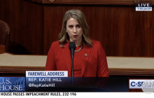 Hill Gives Farewell Address; Votes to Move Forward with Trump Impeachment