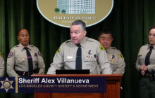 Sheriff Alex Villanueva Hosts Monthly Briefing