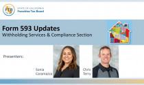 593 Tax Form Updates