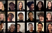 "Valencia High Two n' Four Vocal Jazz Ensemble Performs ""Refugee"" Remotely"