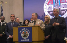 Sheriff Alex Villanueva Joined LA County Officials to Provide an Update on the COVID-19 Virus.