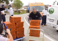 SCV Business Buy Pizzas for Henry Mayo Hospital Staff