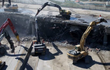 I-5 Burbank Bridge Demolition Videos, Saturday, 4-25-2020