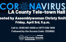 Coronavirus Tele-town Hall Hosted by Christy Smith: 4/3/2020