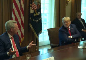 President Donald Trump Talks with Energy Sector CEOs