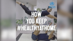 WHO #HealthyAtHome Campaign Launches to Show How Others Are Staying In Shape During COVID-19