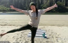 Junior Bear Yoga at Van Damme State Beach