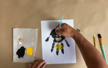 Superhero Hand Print Craft | Virtual Rec Center