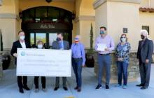Santa Clarita City Council Check Presentation at Bella Vida Senior Center
