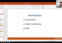Mike Kuhlman Governing Board Presentation on Small Cohorts, Athletics and PSAT – January 13, 2021