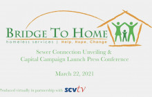 Bridge to Home Press Conference: Sewer, Water Hook-Up Ribbon Cutting & Capital Campaign Launch