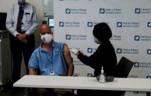 Henry Mayo Newhall Hospital Administers Vaccine to Saugus High School Teacher Jim Klipfel