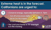 Heat Warnings from Cal OES