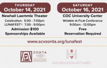October 14 & 16: Zonta SCV to Host 'Women in Film Featuring LUNAFEST'