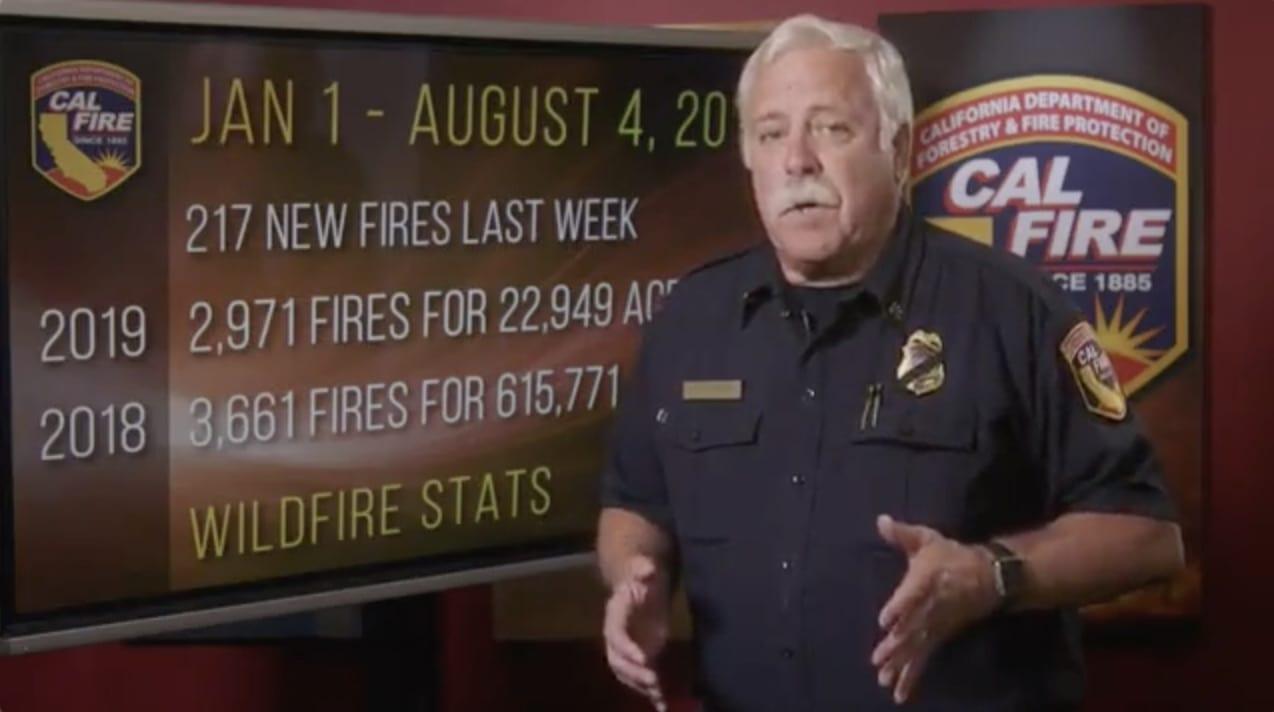 SCVTV com | CAL FIRE: Fire Situation Report, August 5, 2019